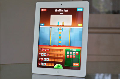 the first game app created on ipad completely