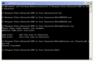 pdf to text converter command line interface