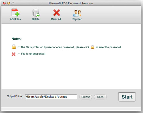 screenshot of istonsoft pdf password removal mac