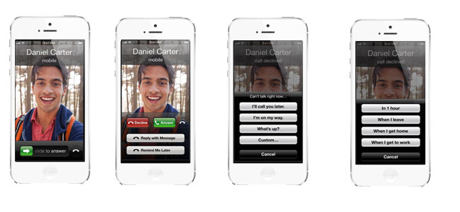 interface of calling on iphone