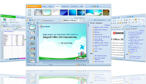 interface of kingsoft office