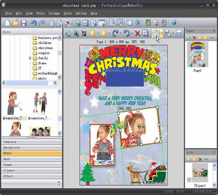 "Launch the program and open ""Collage"" menu. Then click ""Open ...: www.istonsoft.com/blog/printable-christmas-cards-for-kids"