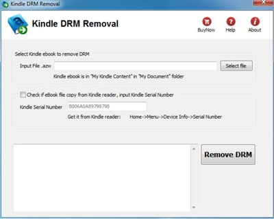 Remove DRM from AZW - DRM Removal Tool for Amazon Kindle