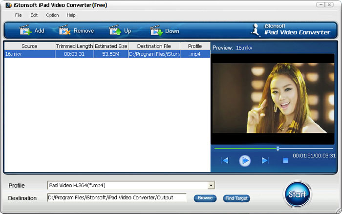 iStonsoft Free iPad Video Converter Screen shot