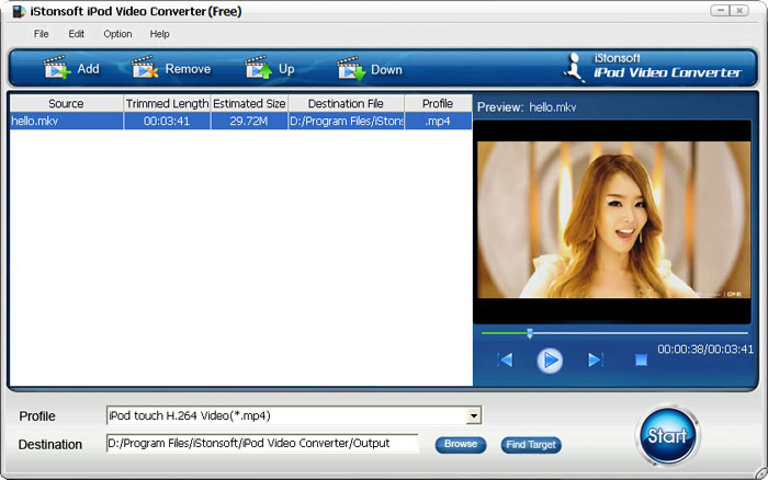 Click to view iStonsoft Free iPod Video Converter screenshots