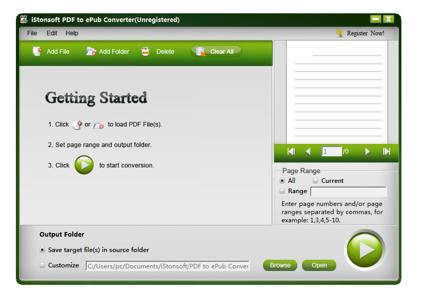 iStonsoft PDF to ePub Converter Screen shot