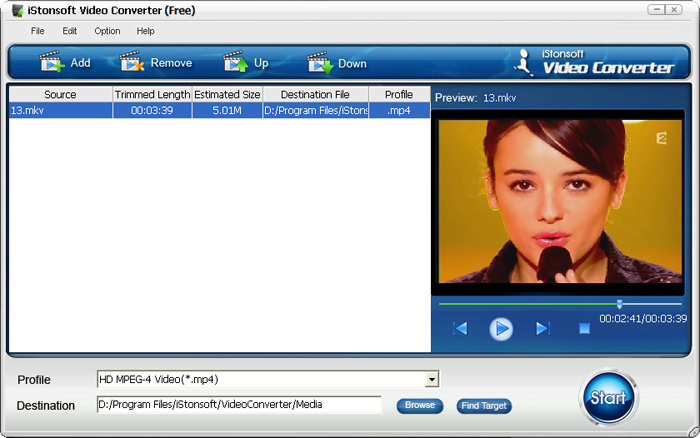 Click to view iStonsoft Free Video Converter 2.1.0 screenshot
