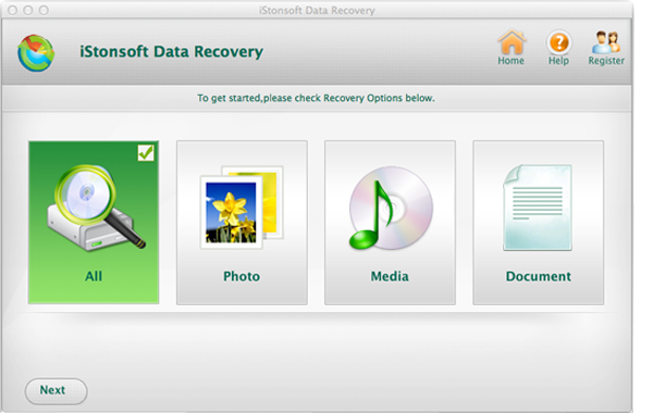 intuitive interface of file recovery for mac