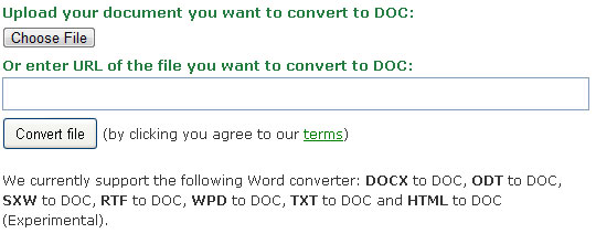 online service to convert odt to doc online