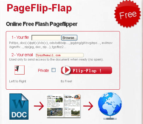 intuitive interface of online flipbook maker free
