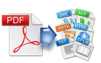 convert pdf to word, excel, powerpoint, epub, html and text