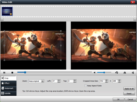 edit videos before converting iso to kindle fire