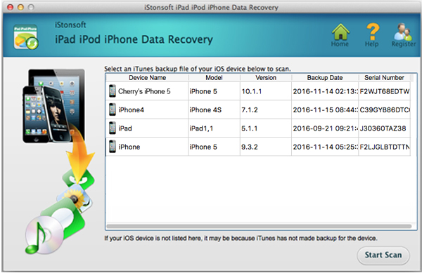 iphone data recovery screenshot