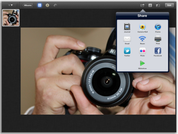 how to use iphoto in ipad