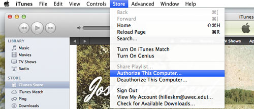 authorize mac from itunes