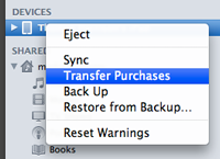 how to transfer purchases from ipad to mac
