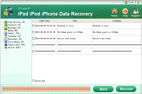 choose to recover text messages from iphone