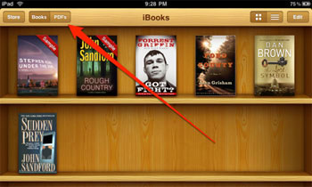 transfer pdf to ibooks with itunes