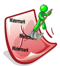 removing watermarks from pdf documents