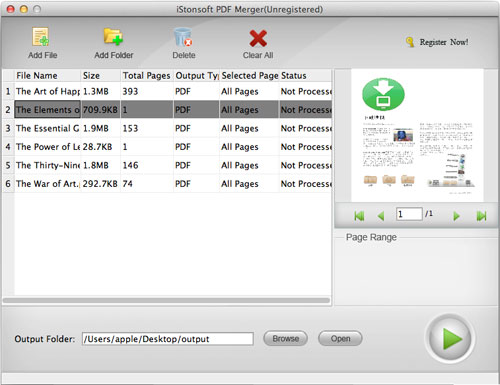 iStonsoft PDF Merger for Mac Screenshot