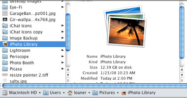 transfer iphoto library to new computer