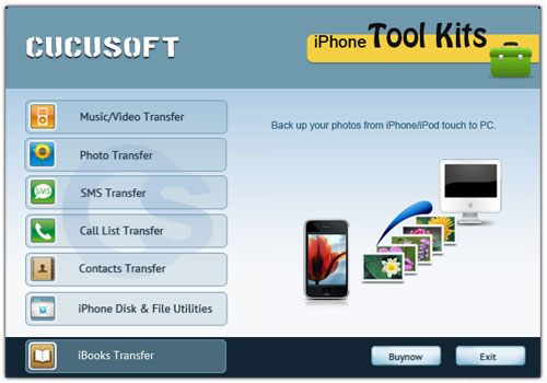 iphone backup software for text messages, ebooks, contacts, etc.