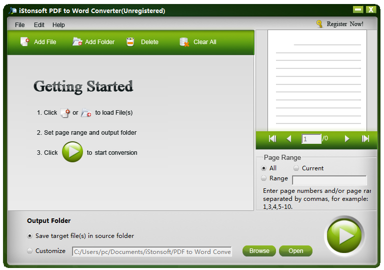Screenshot of IStonsoft PDF to Word Converter 2.6.2
