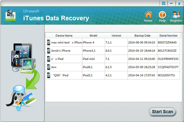 iStonsoft iPhone Backup Recovery for Selective Backup Data