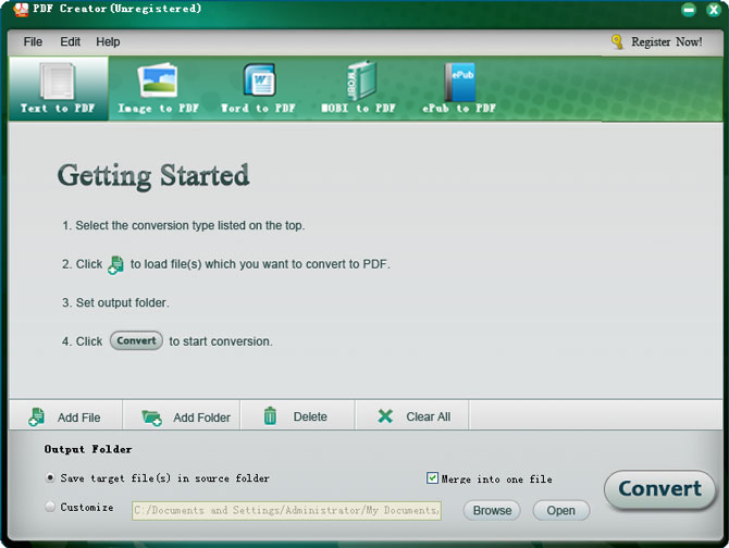 screenshot of istonsoft pdf creator