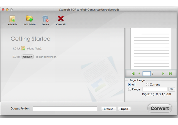 iStonsoft PDF to ePub Converter for Mac Screen shot