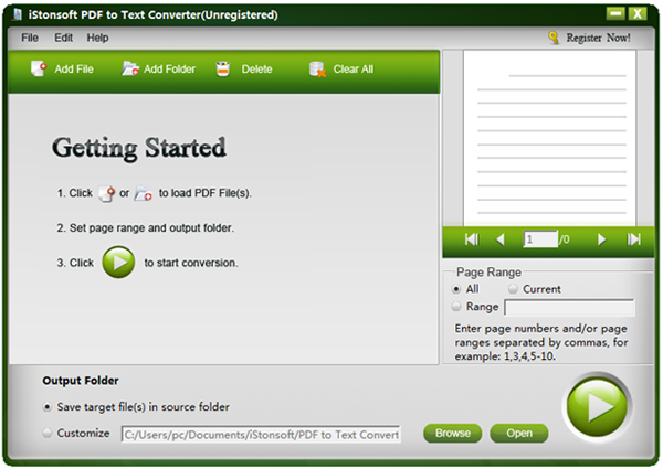 iStonsoft PDF to Text Converter Screenshot