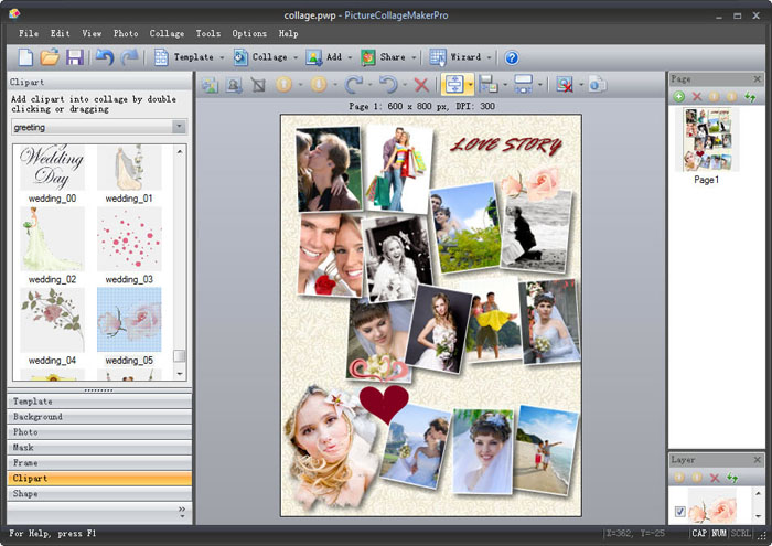 Pearl Mountain Soft Picture Collage Maker Pro, a simple-to-use Windows