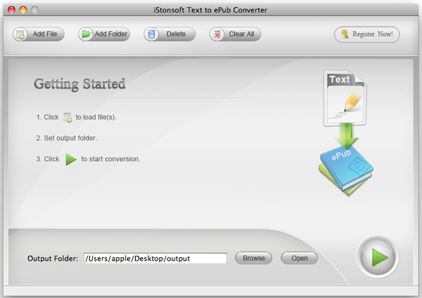 Text to ePub Converter for Mac
