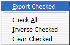 export checked