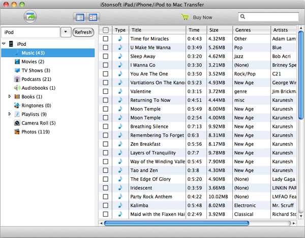 use sharepod for mac to export ipad ipod iphone files to pc