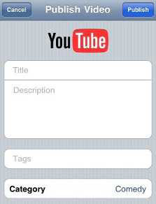 publishing iphone video to youtube