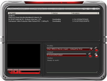 youtube downloader converter interface
