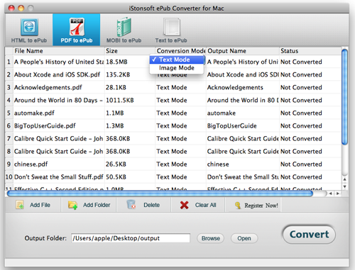 load files to convert epub