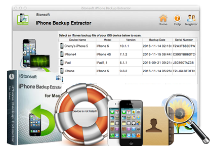 iStonsoft iPhone Backup Extractor for Mac