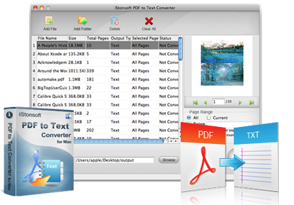 iStonsoft PDF to Text Converter for Mac