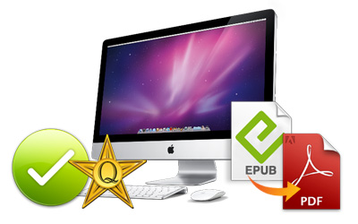 easy way for converting epub file to pdf on mac