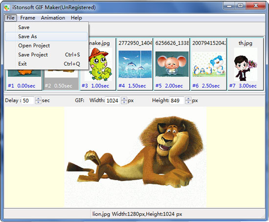 Istonsoft gif maker create or edit your own animated images screenshot negle Choice Image